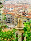Aerial view of the Nice, France royalty free stock image