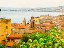 Aerial view of the Nice, France royalty free stock photography