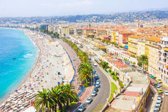 Aerial view of Nice, French Riviera Royalty Free Stock Photos