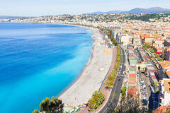 Aerial view of Nice, French Riviera Royalty Free Stock Images