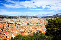 Aerial view of the Nice old town Royalty Free Stock Photos