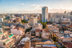 Aerial view of Nicosia city, Cyprus Royalty Free Stock Images