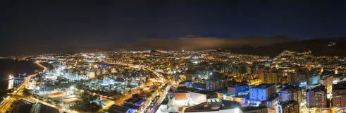 Aerial view of night city. Santa Cruz de Tenerife Stock Photo