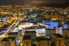 Aerial view of night city. Santa Cruz de Tenerife Stock Images
