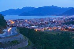 Aerial view of night Marmaris, Turkey Royalty Free Stock Image