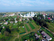 Aerial view on Nikitsky monastery in Pereslavl-Zalessky city. One of oldest in Russia Stock Photo