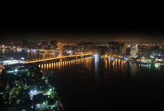 Aerial view of Nile river Stock Image