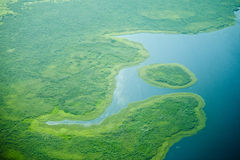 Aerial view of nile river Stock Photography