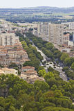 Aerial view of Nimes Royalty Free Stock Photography