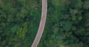 Aerial view of Nine Arches Bridge in Ella, Sri Lanka. Drone footage stock video footage