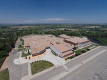 Aerial View of Niwot High School Royalty Free Stock Image