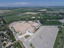 Aerial View of Niwot High School. A high up aerial view of Niwot High School Stock Image