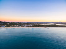 An aerial view of Noosa National Park at sunset in Queensland Australia Stock Photography