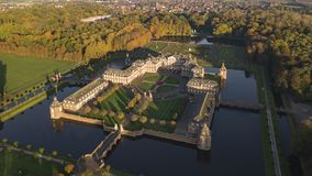 Aerial view of Nordkirchen moated castle in Germany, known as the Versailles of Westphalia. Aerial view of Nordkirchen moated castle in Germany known as the royalty free stock images