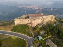Aerial view of Normanno Svevo Castle, Vibo Valentia, Calabria, Italy Stock Images