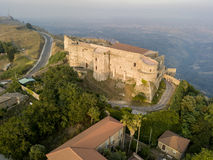 Aerial view of Normanno Svevo Castle, Vibo Valentia, Calabria, Italy Royalty Free Stock Photos