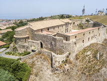 Aerial view of Normanno Svevo Castle, Vibo Valentia, Calabria, Italy Royalty Free Stock Photography