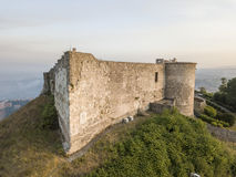 Aerial view of Normanno Svevo Castle, Vibo Valentia, Calabria, Italy Stock Photos