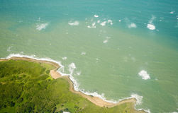 Aerial view of North coast Puerto Rico Royalty Free Stock Photo