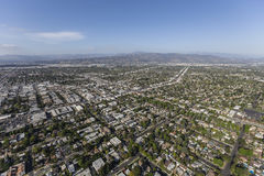 Aerial View of North Hollywood California Royalty Free Stock Photo