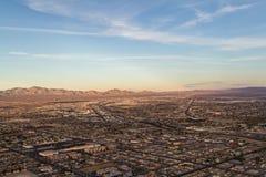 Aerial view of North Las  Vegas Royalty Free Stock Photos