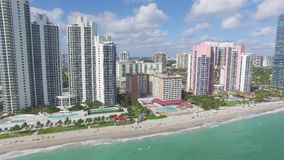 Aerial view North Miami Beach stock footage