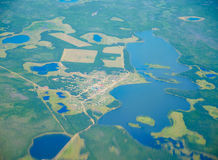 Aerial view on North Yakutia landscapes Stock Image