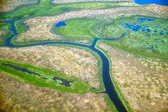 Aerial view on North Yakutia landscapes Royalty Free Stock Images