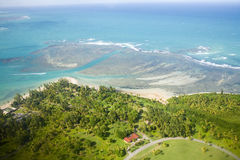 Aerial view of Northeast Puerto Rico Stock Photography