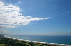 AERIAL VIEW OF NORTHERN COAST OF DURBAN Stock Photography