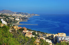 Aerial view of northern coastline of Malaga Stock Photography