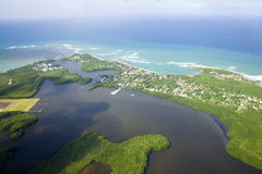 Aerial view of Northern Puerto Rico Stock Photo
