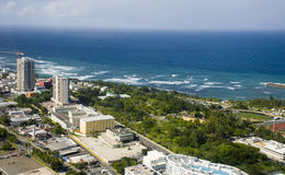 Aerial view of Northern Puerto Rico Stock Image