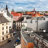 Aerial view of northern Wroclaw, Poland Stock Images