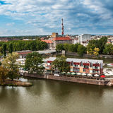 Aerial view of northern Wroclaw, Poland Stock Photography