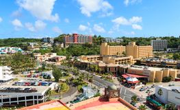 Aerial view of nothern part of Tumon Bay aerea. royalty free stock images