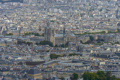 Aerial view of Notre dam taken from Montparnasse Tower Stock Photo