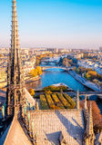Aerial view from Notre Dame de Paris,France. Royalty Free Stock Photos