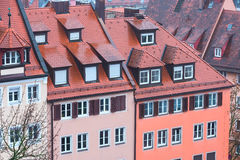 Aerial view of Nuremberg, Franconia in Bavaria Stock Photography