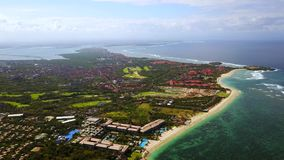 Aerial view of nusa dua beach in bali stock footage