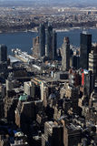 Aerial view of NYC Royalty Free Stock Photography