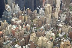 Aerial view of nyc center Stock Photo