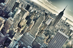 Aerial view of NYC. Royalty Free Stock Images