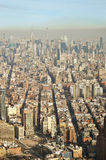 Aerial view of the NYC. Stock Image