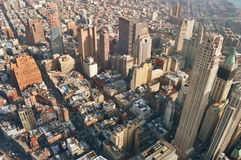 Aerial view of the NYC. Stock Photo