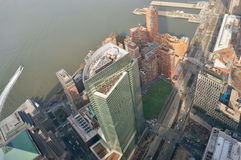Aerial view of the NYC. Royalty Free Stock Images