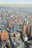 Aerial view of the NYC. Royalty Free Stock Photo