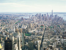 Aerial view of NYC. Royalty Free Stock Photo
