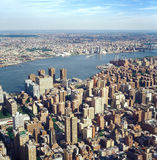 Aerial view of NYC. Aerial view of New York City from the Empire State Building Stock Photos