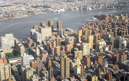 Aerial view of NYC. Stock Image